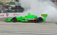 To the victor... goes the burn out...2013 Champ James Hinchcliff (photo Chuck Green / Cg Photography)