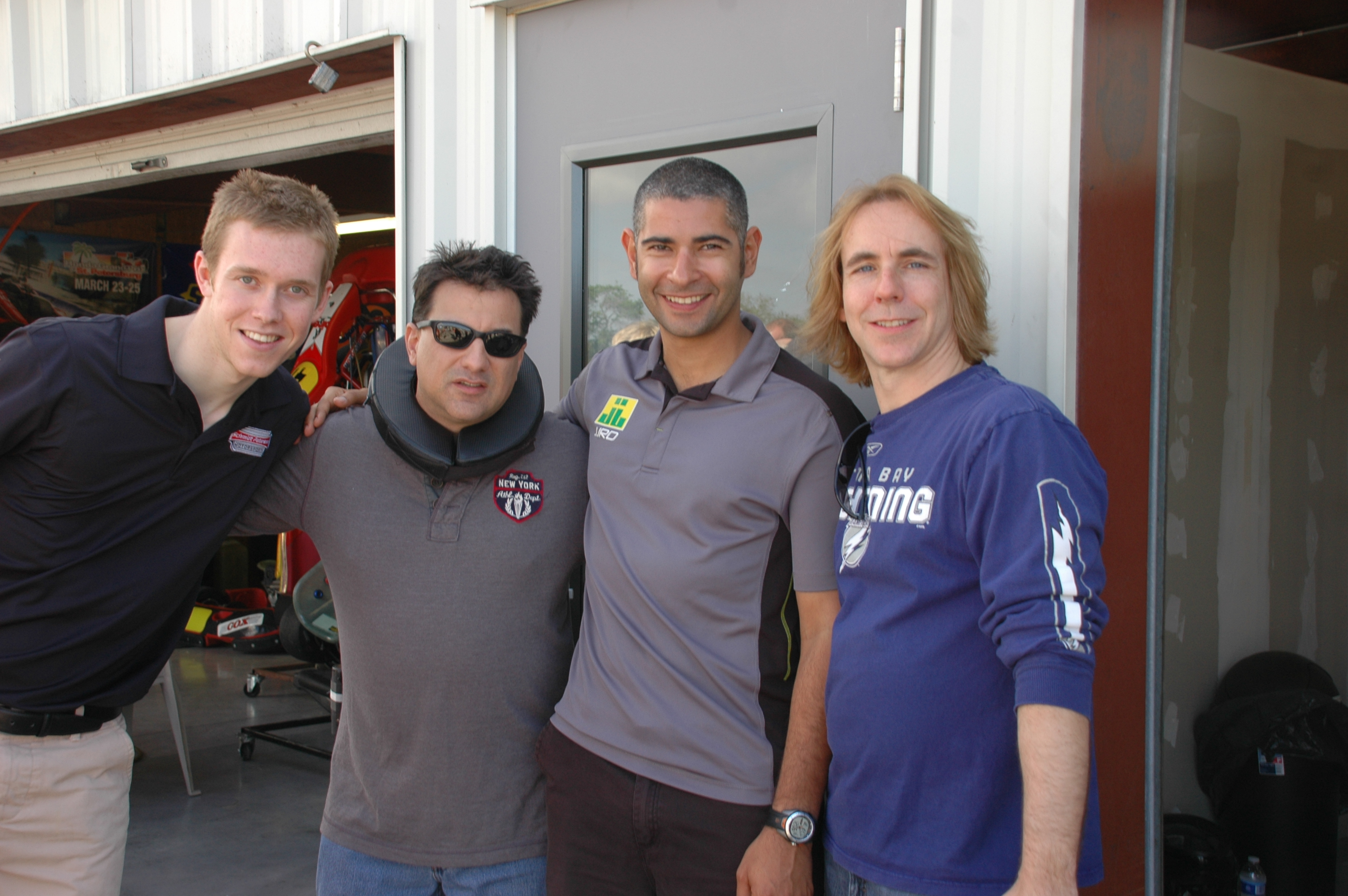 Start your engines, well soon enough!  Left to Right: Jack Hawksworth, Rick Sassone, Jonatan Jorge and Travis Failey (photo: Wendy Eckhardt / Rocket Sports & Entertainment)