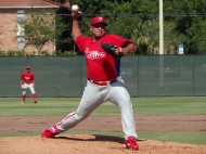 Carlos Zambrano on the hill for the first time since the World Baseball Classic (EDDIE MICHELS PHOTO)