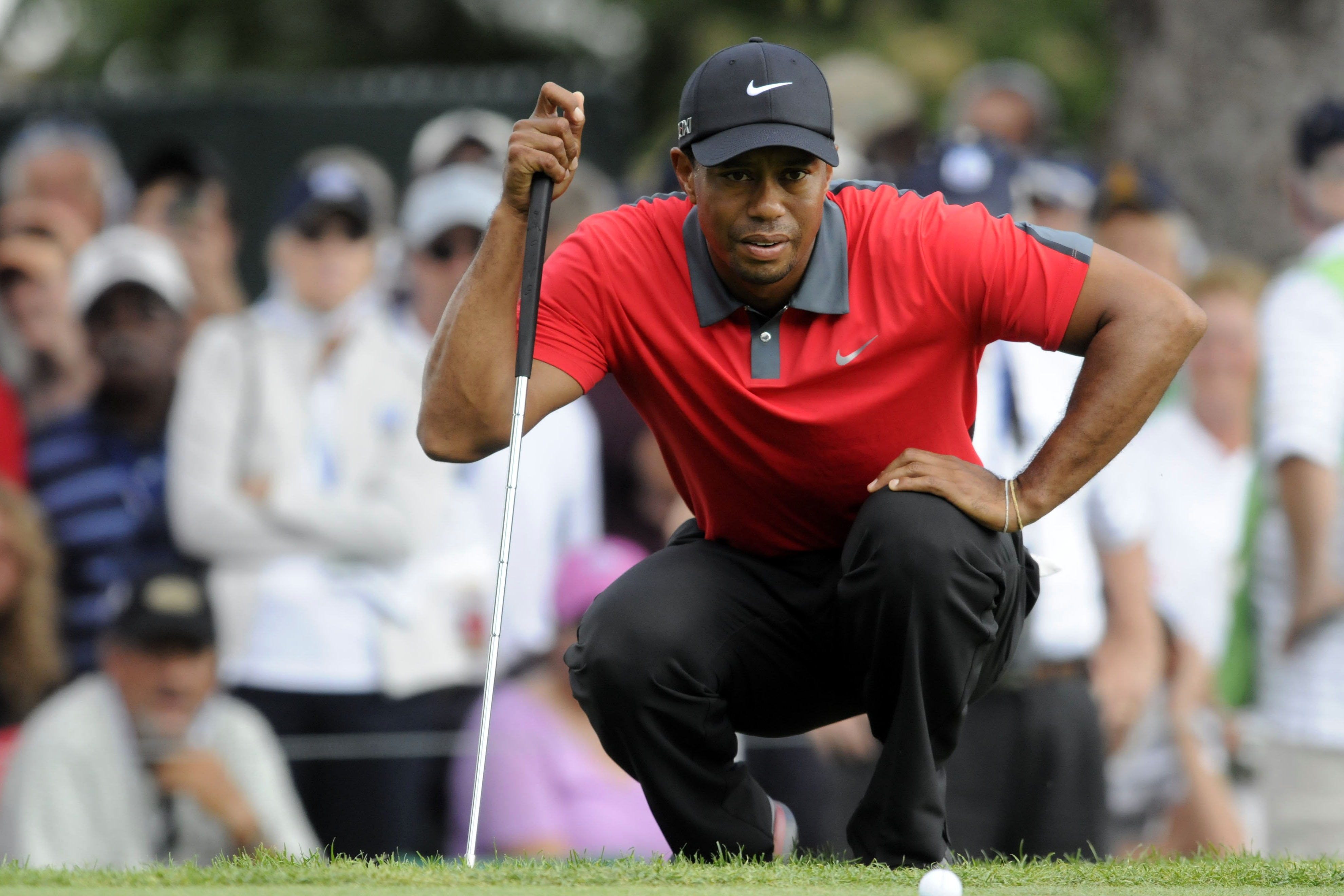 Tiger's not coming, he found out Eddie was going to be there.(photo Mark Konezny-USA TODAY Sports)