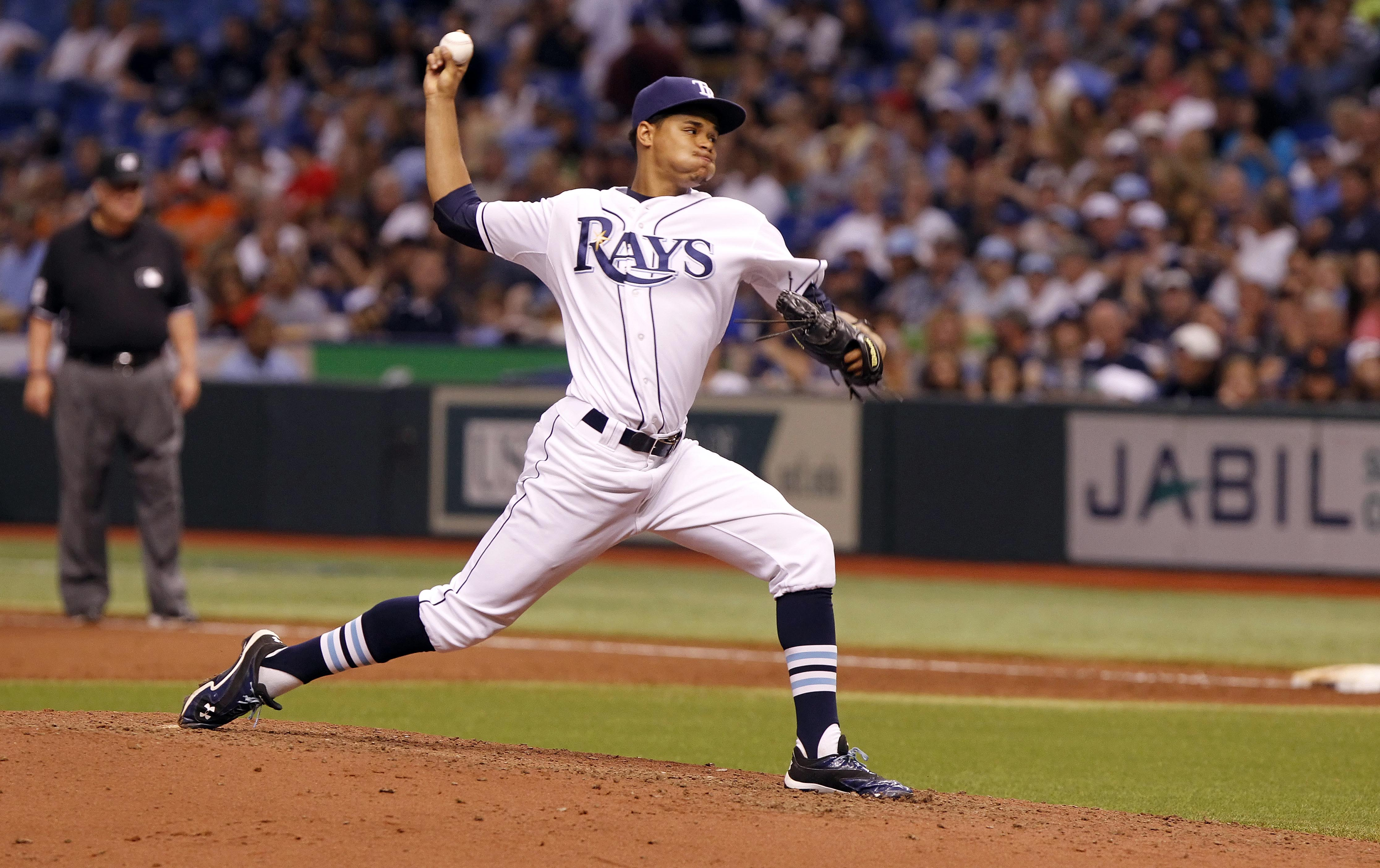 Chris Archer of the Tampa Bay Rays a young pitcher with All-Star future potential (photo Kim Klement-USA TODAY Sports)