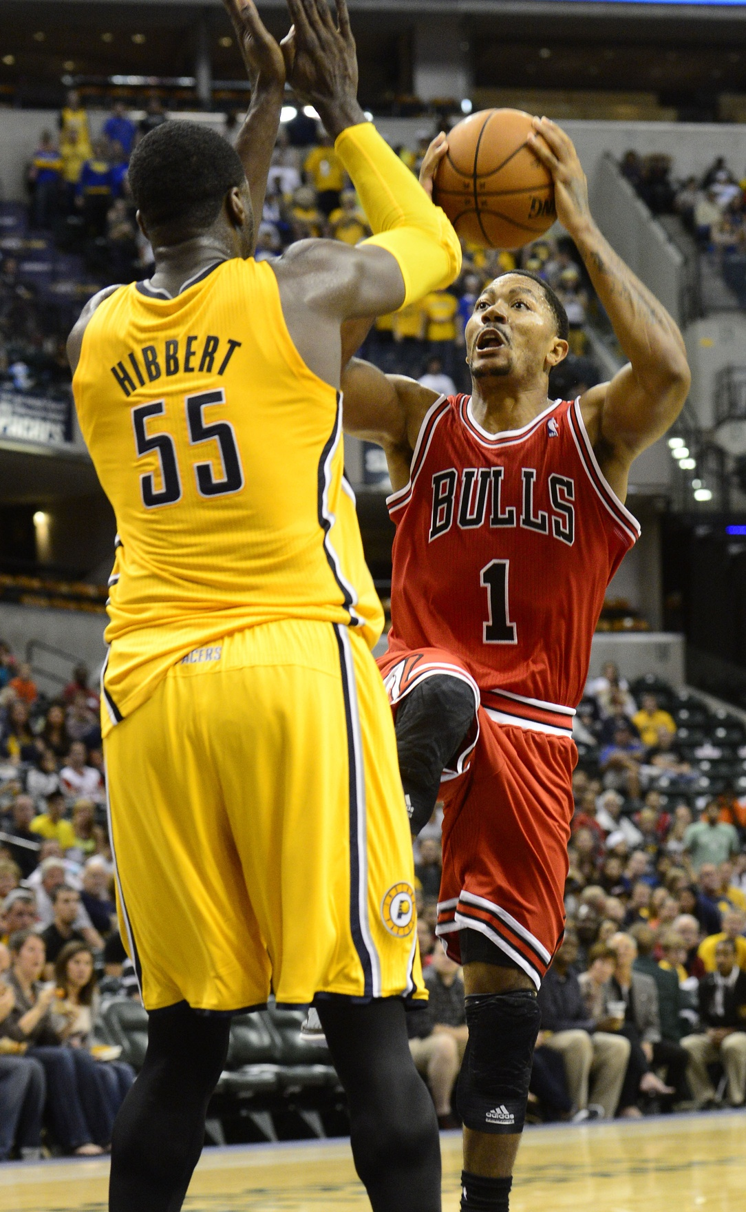 Roy Hibbert, Indiana Pacers (photo USA Today Sports / Marc Lebryk)