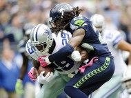JJ says it so!  Up seven  spots DeMarco Murray and the Dallas Cowboys run by Richard Sherman and the Seattle Seahawks (photo USA TODAY Sports / Steven Bisig)