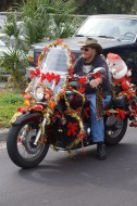 The bikers got their rides in the Christmas spirit (Eddie Michels photo)
