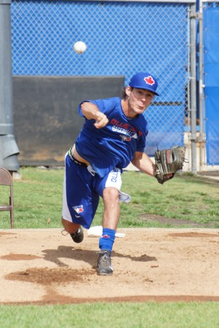 Jackson Lowery Throws First BP as a Jay. (EDDIE MICHELS PHOTO)