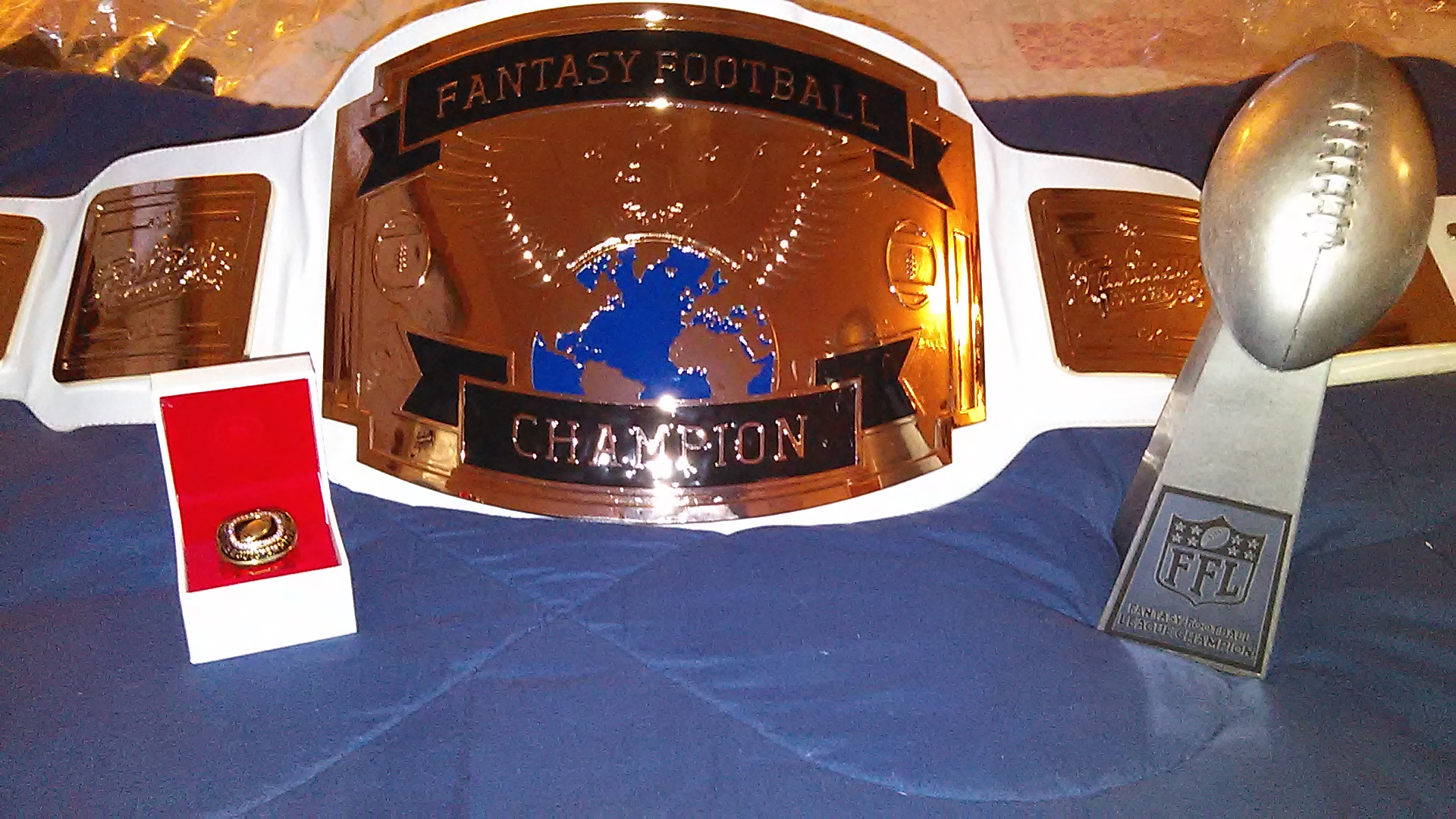 The overall champ will receive a cash prize,  Lombardi replica trophy, championship belt and championship ring.  Cash prizes for second and third as well. (TMF photo)