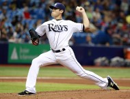 Tampa Bay Rays starting pitcher Matt Moore (55) throws a pitch during the sixth inning against the Cleveland Indians at Tropicana Field. (USA TODAY Sports / Kim Klement)