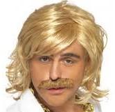 Blond wig-stache
