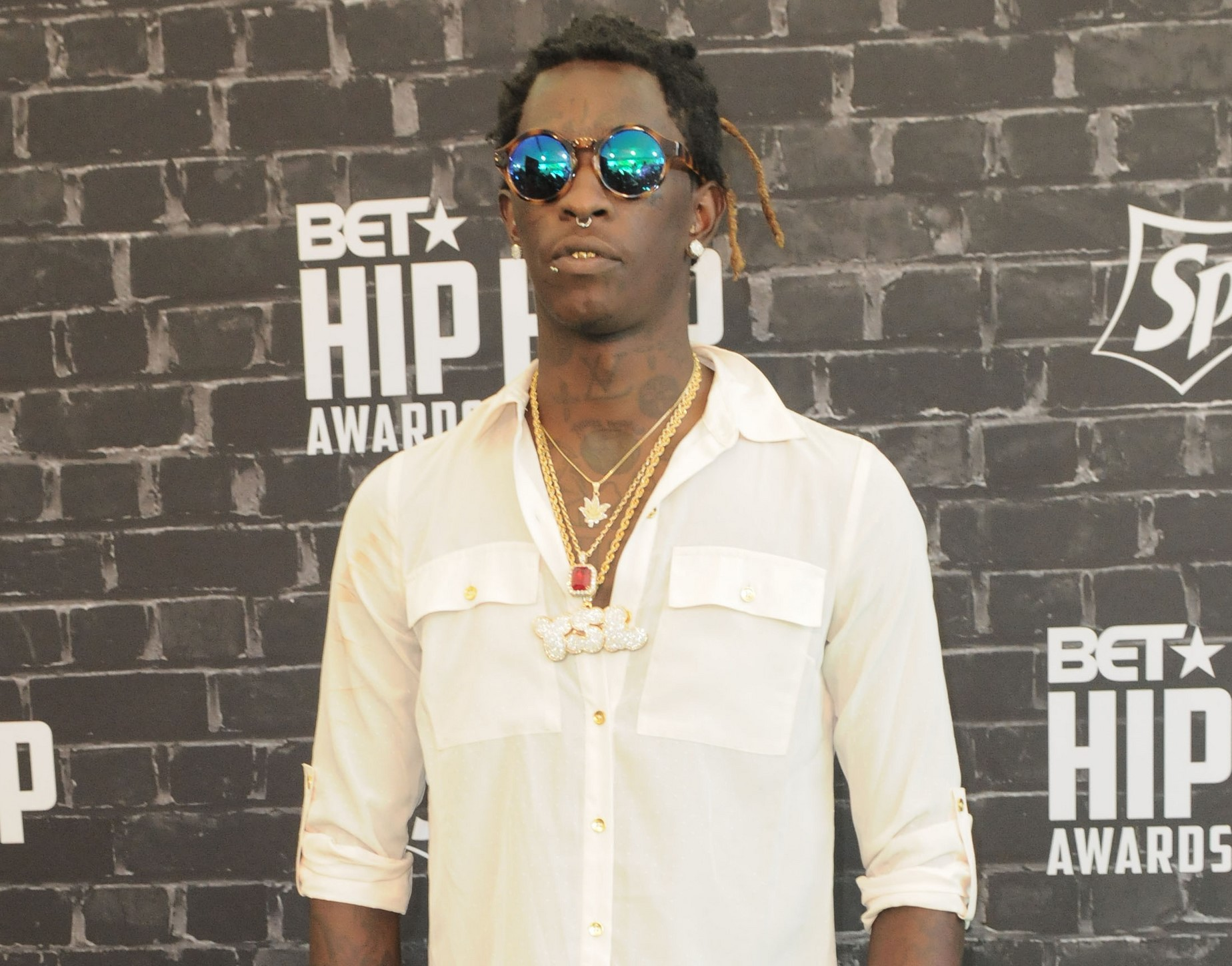 09/20/2014 - Young Thug - BET Hip Hop Awards 2014 Presented by Sprite - Arrivals - Boisfeuillet Jones Atlanta Civic Center - Atlanta, GA, USA - Keywords: full length shot, rapper Orientation: Portrait Face Count: 1 - False - Photo Credit: Aaron J. Thornton / PR Photos - Contact (1-866-551-7827) - Portrait Face Count: 1