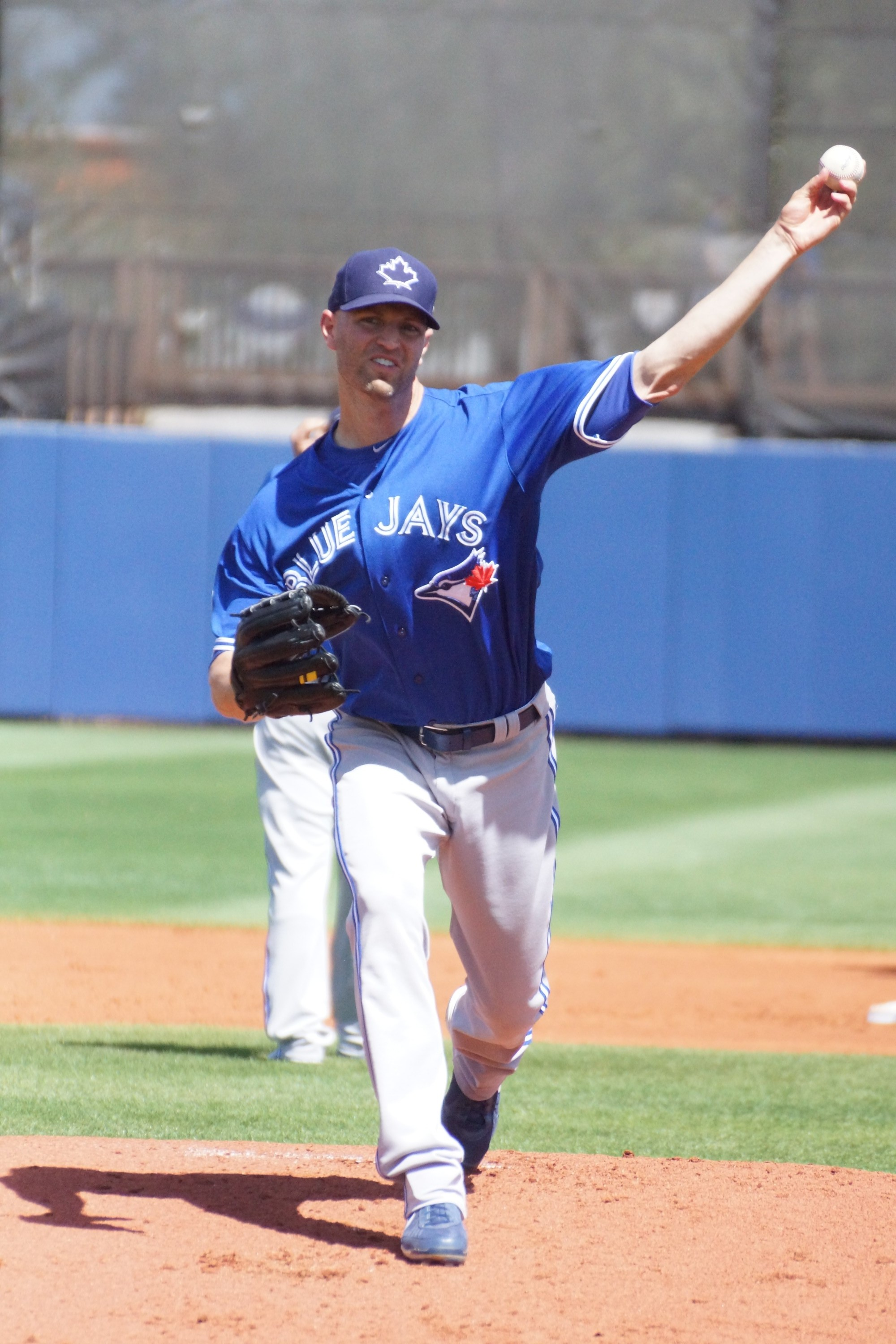 JA Happ Gets the win. (photo Eddie Michels)