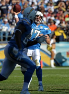 Phillip Rivers to Antonio Gates (PR PHOTO)