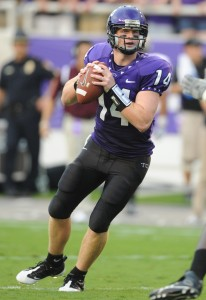 Andy Dalton looked like a pro at TCU (Photo courtesy of TCU Athletic Communications)