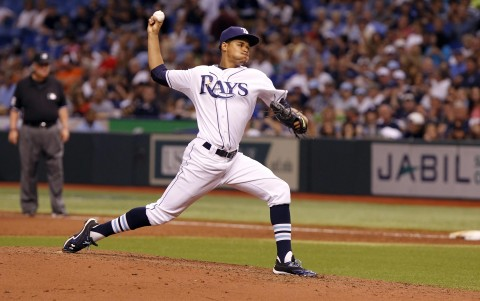 Chris Archer, the Tampa Bay Rays opening day starter (photo: Kim Klement-USA TODAY Sports)