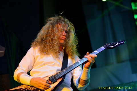 The Megadeth front man Dave Mustaine (photo by Travis Failey / RSEN)