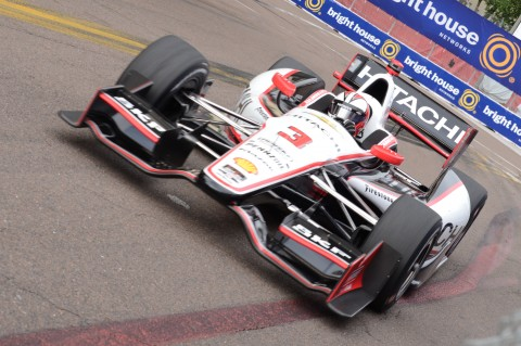 Helio Castroneves a three time Grand Prix of St. Petersburg champion (2006, 2007, 2012)  (photo Rodney Meyering / RSEN)