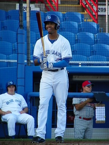 Pompey readies for his first at bat on Thursday (Eddie Michels/Photo)