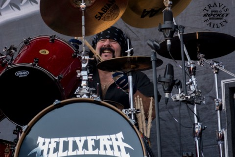 Vinnie Paul with Hell Yeah! (photo by Travis Failey / RSEN)