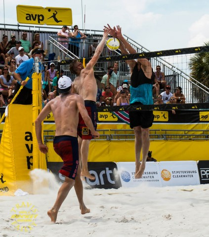 Brad Keenan with a monster en-route to the men's AVP win in St. Petersburg (photo Travis Failey / RSEN)