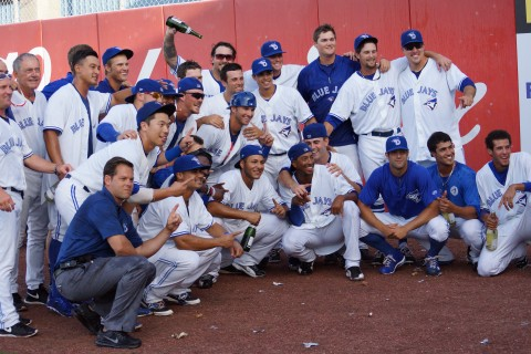 Dunedin with the win in the first game of the double header on Thursday June 12, 2014 sports the best record in all of minor league baseball. (Eddie Michels / Photo)