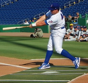 2011 FSL Yuengling Home Run Derby Champ Justin Bour of the Daytona Cubs (photo by Eddie Michels)