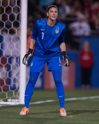 Hope Solo (photo USA Today Sports / Jerome Miron)