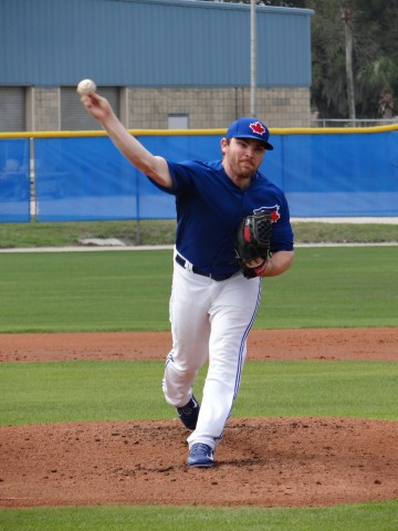 Kendriks here, threw in an intra-squad game on Friday with the Blue Jays is off to KC (Eddie Michels photo]