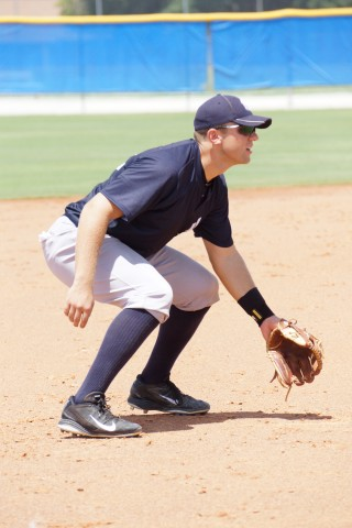 Eric Jagielo playing the hot corner for the Gulf Coast League Yankees (Eddie Michels Photo)
