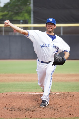 Frank Viola (1-0) pitched 6 innings giving up only 1 earned run on 5 hits to get the win over crosstown rival the Clearwater Threshers.   (EDDIE MICHELS PHOTO)