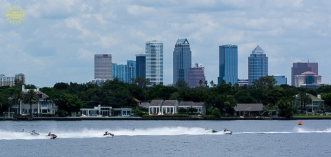 Downtown Tampa provided a beautiful back drop (photo by Travis Failey)