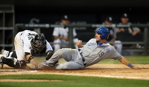 Danny Valencia has posted a .282 batting average in 36 games this season for the Kansas City Royals with five doubles, two home runs and 11 RBI.  The 6-2, 220 lb. right-handed batter is a career .265 hitter with 35 home runs in 371 games for Minnesota (2010-2012), Boston (2012), Baltimore (2013) and Kansas City (2014).  (photo USA TODAY Sports / Jerry Lai)