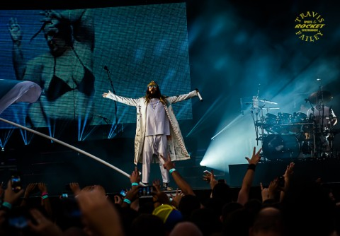 JARED LETO, 30 SECONDS TO MARS (photo Travis Failey / RSEN)