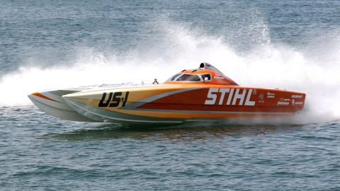 The Stihl sporting the US1 indicating she is the defending and current National Champion. (Chuck Green / Cg Photography)