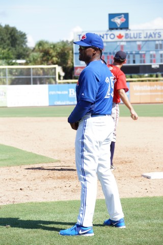 Carlos Delgado coaching first  (EDDIE MICHELS PHOTO)