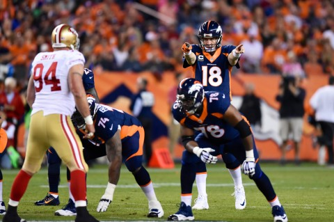 3)       Denver (6-2) Cold weather and Tom Brady are kryptonite for Peyton Manning, but overreacting over a road loss to a 7-2 Pats team is silly. The Broncos are still a Super Bowl threat (photo Ron Chenoy / USA TODAY Sports)
