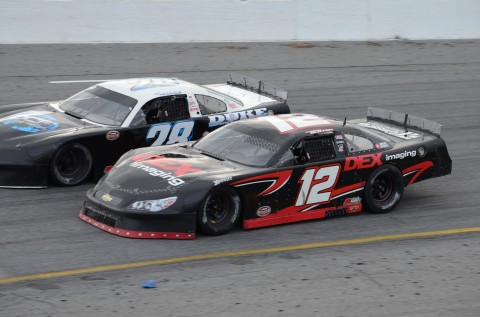 14 year-old Harrison Burton driving the #12 from the pole (RODNEY MEYERING RSEN)