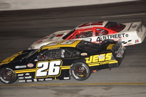 Bubba Pollard (26) and Bobby Good battle it out in New Smyrna. (photo Rodney Meyering / RSEN)