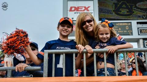 Auburn fans in the south end zone (Travis Failey / RSEN)