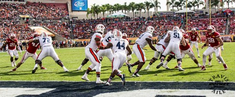 Auburn's Cameron Artis-Payne (44) rushed for 126 yards on 26 carries with 2 TDs. (Travis Failey / RSEN)