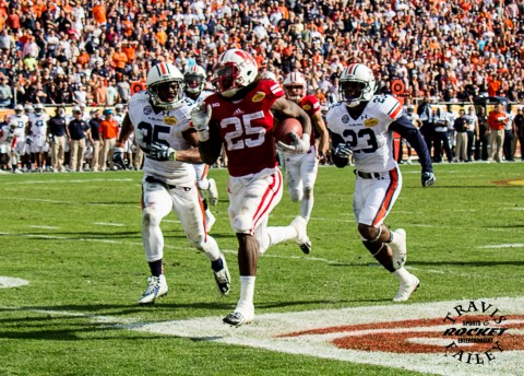 #2 gordon appears to just have to beat Auburn free safety Jermaine Whitehead (Travis Failey / RSEN)