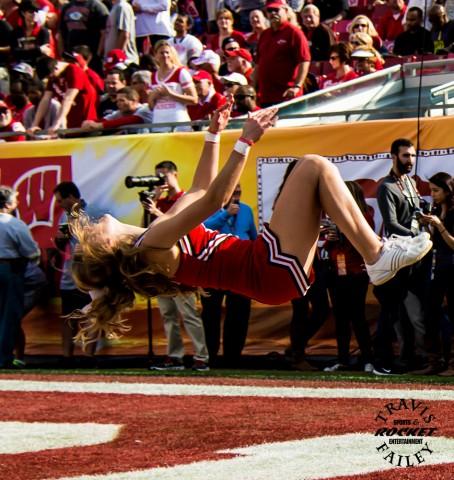 Wisconsin flips for the Badgers (Travis Failey / RSEN)