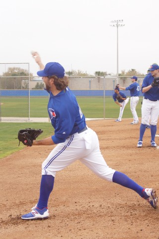"Martin said to Dickey when they were done, ""l 'll get better."" (EDDIE MICHELS PHOTO)"