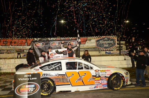 VICTORY LANE - AUSTIN HILL  (photo Rodney Meyering / RSEN)