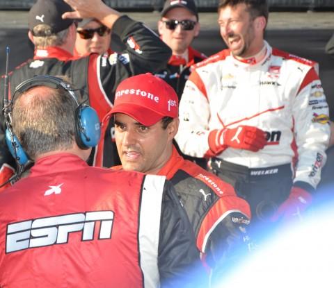 Montoya with ABC/ESPN (photo Rodney Meyering  / RSEN)