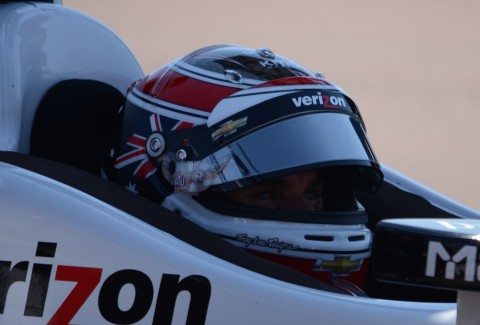 Will Power here during the warm up session, appeared to be unstoppable (photo Rodney Meyering  / RSEN)