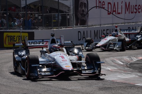Will Power with teammate Helio Castroneves behind(photo Rodney Meyering  / RSEN)