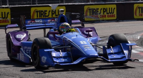 Rookie Sage Karam finished 19th, one spot off his staring position.  Look for a feature in RocketSports-ent.com by Brennie on the Indy Car Rookies (photo Rodney Meyering  / RSEN)