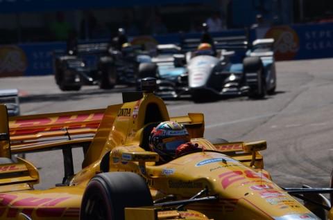 Ryan Hunter Rey, the 2014 Indianapolis 500 winner, finished 7th.  The highest finishing Honda engine behind six Chervolets (photo Rodney Meyering  / RSEN)