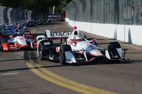 Helio Castroneves finished 4th for Team Penske (photo Rodney Meyering  / RSEN)