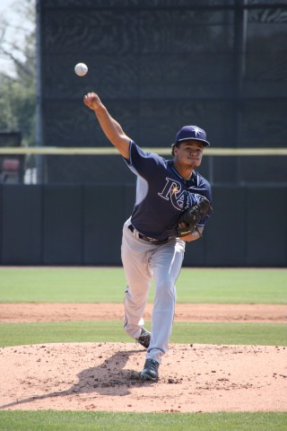 Chris Archer pitched four solid innings and is the probable opening day started for the Rays. (EDDIE MICHELS PHOTO)