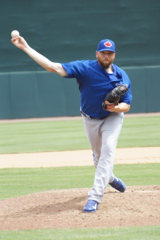 Steve Delabar pitched pitched the 7th. (EDDIE MICHELS PHOTO)